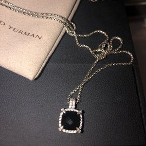 David yurman black onyx diamond pendant